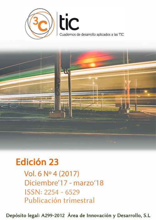 Ver Vol. 6, núm. 4 (2017) : 3C TIC  EDICIÓN Nº23