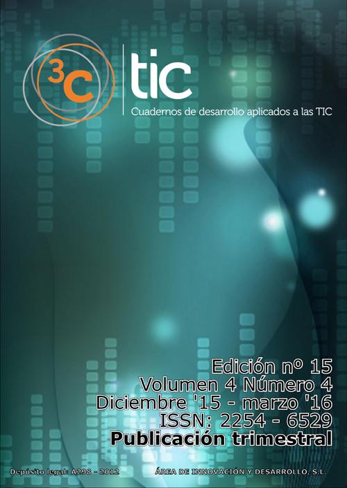 Ver Vol. 4 Núm. 4 (2015): 3C TIC - Edición nº 15