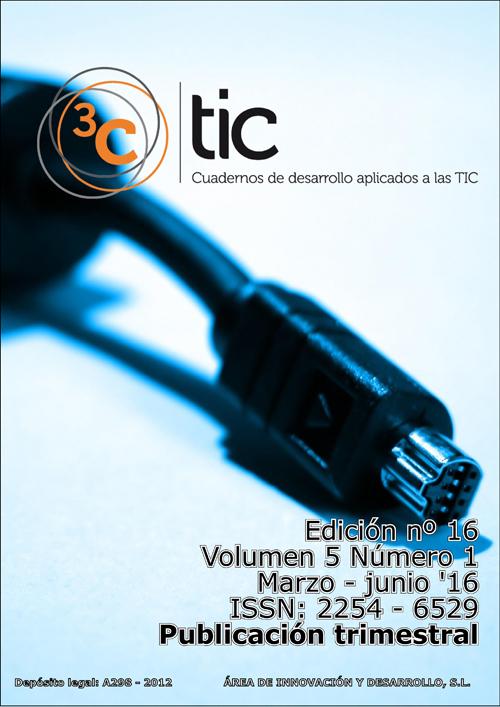 Ver Vol. 5 Núm. 1 (2016): 3C TIC - Edición Nº 16